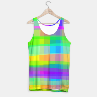 Thumbnail image of Psychedelic Faux Fabric Texture Pattern Tank Top, Live Heroes