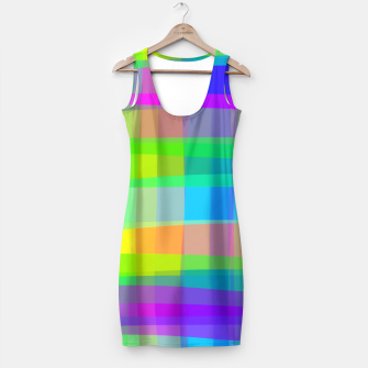 Thumbnail image of Psychedelic Faux Fabric Texture Pattern Simple Dress, Live Heroes