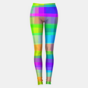 Thumbnail image of Psychedelic Faux Fabric Texture Pattern Leggings, Live Heroes