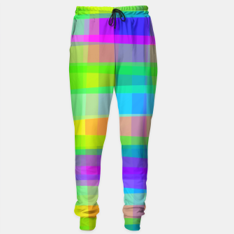 Thumbnail image of Psychedelic Faux Fabric Texture Pattern Sweatpants, Live Heroes
