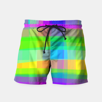 Thumbnail image of Psychedelic Faux Fabric Texture Pattern Swim Shorts, Live Heroes