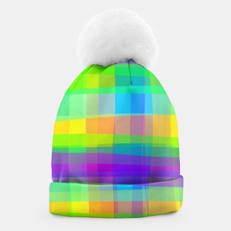 Thumbnail image of Psychedelic Faux Fabric Texture Pattern Beanie, Live Heroes