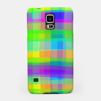 Psychedelic Faux Fabric Texture Pattern Samsung Case thumbnail image