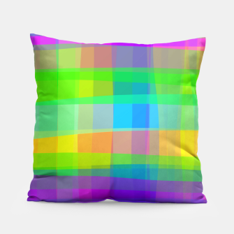 Thumbnail image of Psychedelic Faux Fabric Texture Pattern Pillow, Live Heroes
