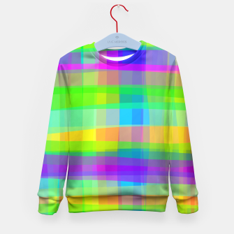 Thumbnail image of Psychedelic Faux Fabric Texture Pattern Kid's Sweater, Live Heroes