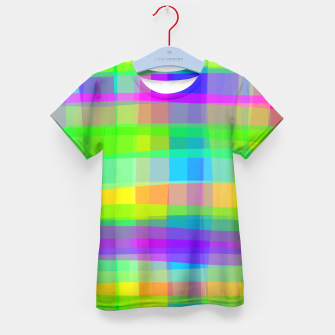 Psychedelic Faux Fabric Texture Pattern Kid's T-shirt thumbnail image