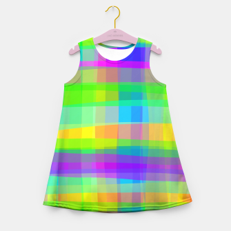 Thumbnail image of Psychedelic Faux Fabric Texture Pattern Girl's Summer Dress, Live Heroes