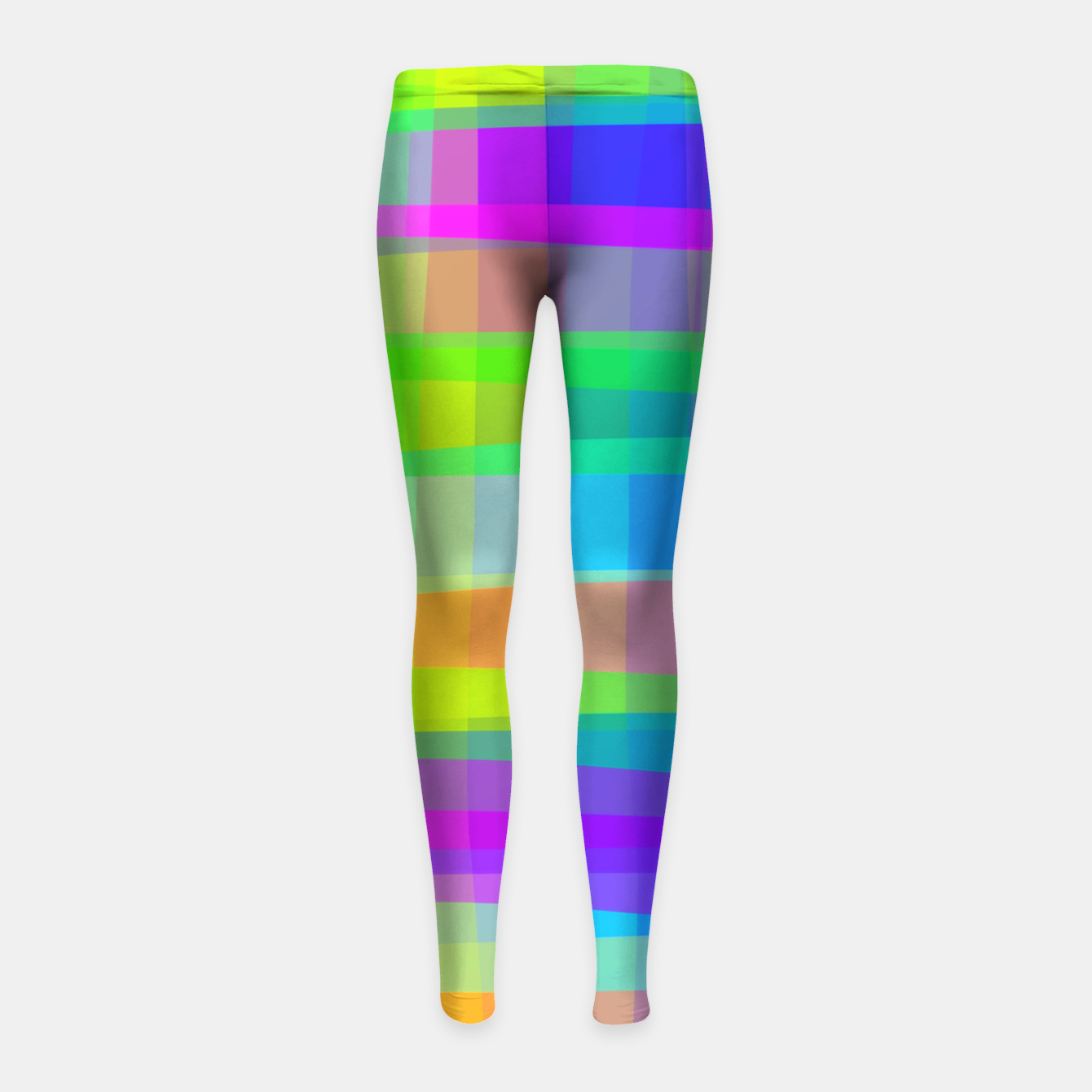 Image of Psychedelic Faux Fabric Texture Pattern Girl's Leggings - Live Heroes