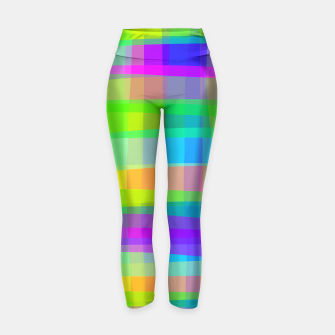 Thumbnail image of Psychedelic Faux Fabric Texture Pattern Yoga Pants, Live Heroes