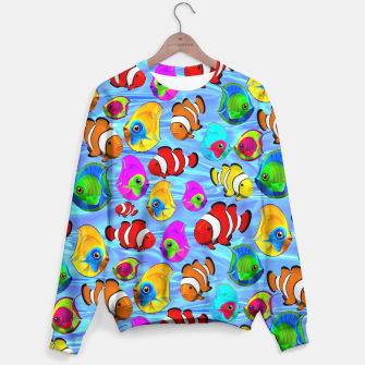 Thumbnail image of Tropical Fishes Cartoon Pattern Sweater, Live Heroes