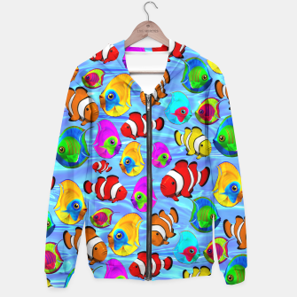 Thumbnail image of Tropical Fishes Cartoon Pattern Hoodie, Live Heroes