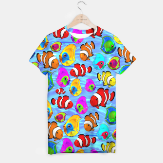 Thumbnail image of Tropical Fishes Cartoon Pattern T-shirt, Live Heroes