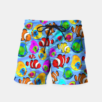 Thumbnail image of Tropical Fishes Cartoon Pattern Swim Shorts, Live Heroes