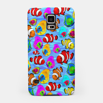 Thumbnail image of Tropical Fishes Cartoon Pattern Samsung Case, Live Heroes