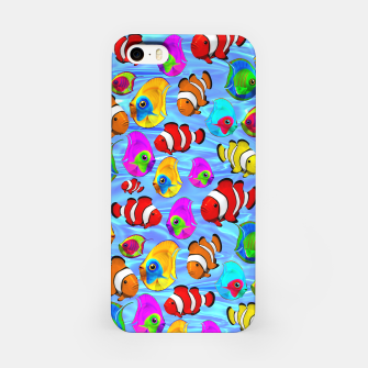 Thumbnail image of Tropical Fishes Cartoon Pattern iPhone Case, Live Heroes