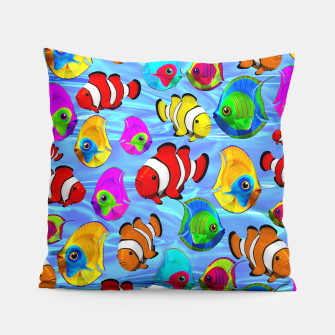 Thumbnail image of Tropical Fishes Cartoon Pattern Pillow, Live Heroes