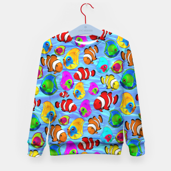 Thumbnail image of Tropical Fishes Cartoon Pattern Kid's Sweater, Live Heroes
