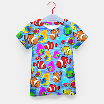Thumbnail image of Tropical Fishes Cartoon Pattern Kid's T-shirt, Live Heroes