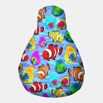 Thumbnail image of Tropical Fishes Cartoon Pattern Pouf, Live Heroes