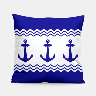 Thumbnail image of Coastal Sailing Anchor Pillow, Live Heroes