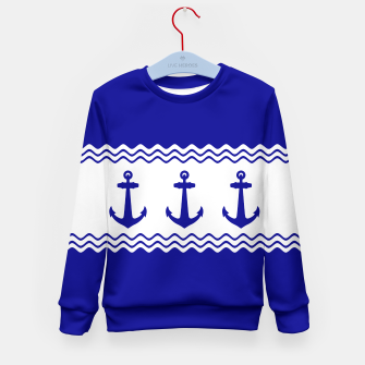 Thumbnail image of Coastal Sailing Anchor Kid's Sweater, Live Heroes