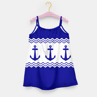 Thumbnail image of Coastal Sailing Anchor Girl's Dress, Live Heroes