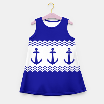 Thumbnail image of Coastal Sailing Anchor Girl's Summer Dress, Live Heroes