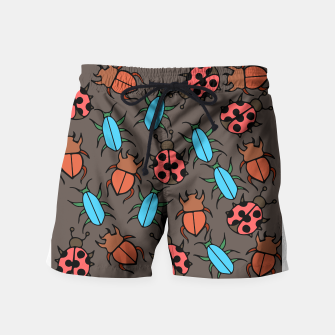 Thumbnail image of Bug Ladybugs and Beetles Lover Swim Shorts, Live Heroes