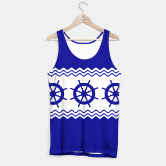 Thumbnail image of Coastal Sailing Ship Helm Tank Top, Live Heroes