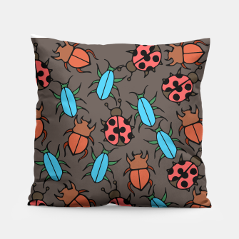 Thumbnail image of Bug Ladybugs and Beetles Lover Pillow, Live Heroes