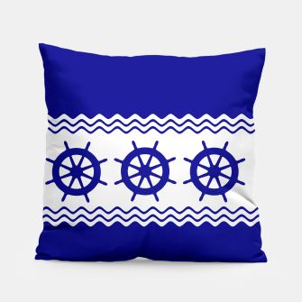 Thumbnail image of Coastal Sailing Ship Helm Pillow, Live Heroes