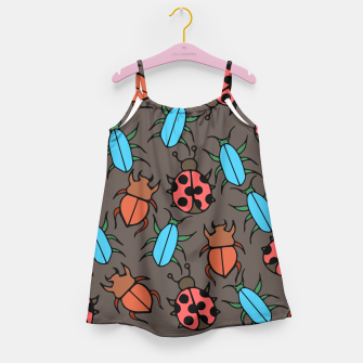 Thumbnail image of Bug Ladybugs and Beetles Lover Girl's Dress, Live Heroes