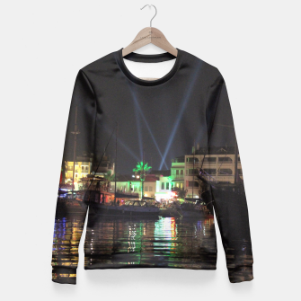 Miniaturka Marmaris Marina Nightscape Fitted Waist Sweater, Live Heroes