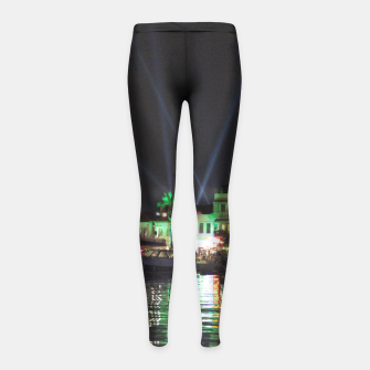 Miniaturka Marmaris Marina Nightscape Girl's Leggings, Live Heroes