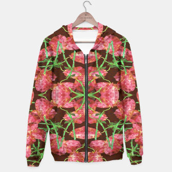 Thumbnail image of Floral Collage Pattern Hoodie, Live Heroes