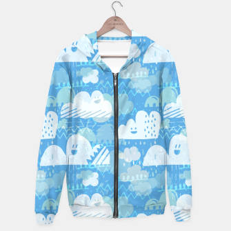 Thumbnail image of Funny Little Clouds Hoodie, Live Heroes
