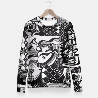 Miniatur fusion_cosmicRAY Fitted Waist Sweater, Live Heroes