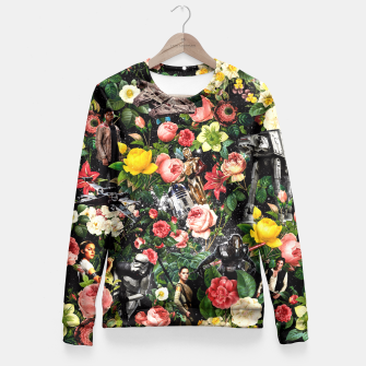Thumbnail image of 1977-2016 Starwars and Floral Pattern Fitted Waist Sweater, Live Heroes