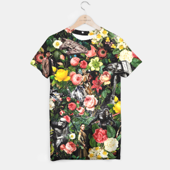 Thumbnail image of 1977-2016 Starwars and Floral Pattern T-shirt, Live Heroes