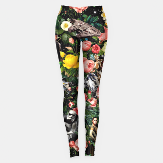 Thumbnail image of 1977-2016 Starwars and Floral Pattern Leggings, Live Heroes