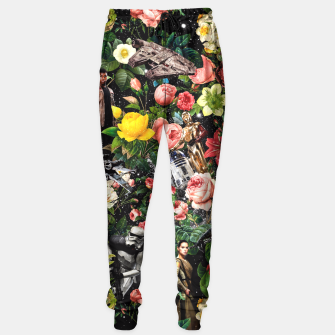 Thumbnail image of 1977-2016 Starwars and Floral Pattern Sweatpants, Live Heroes