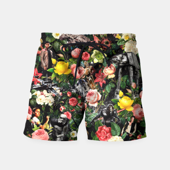 Thumbnail image of 1977-2016 Starwars and Floral Pattern Swim Shorts, Live Heroes