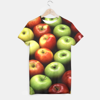 Imagen en miniatura de Red and Green Apples Displayed In A Pattern T-shirt, Live Heroes