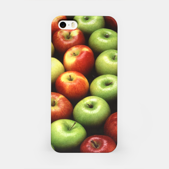 Imagen en miniatura de Red and Green Apples Displayed In A Pattern iPhone Case, Live Heroes