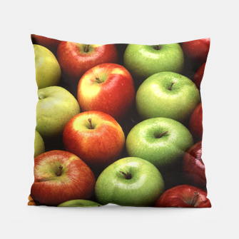 Imagen en miniatura de Red and Green Apples Displayed In A Pattern Pillow, Live Heroes