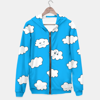 Thumbnail image of Funny Clouds Hoodie, Live Heroes