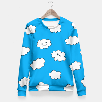Funny Clouds Fitted Waist Sweater thumbnail image