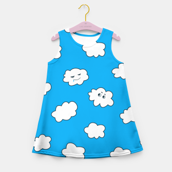 Funny Clouds Girl's Summer Dress thumbnail image