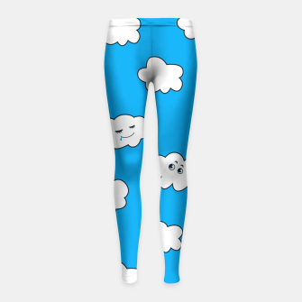 Funny Clouds Girl's Leggings thumbnail image