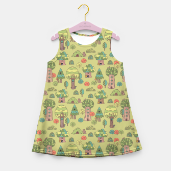 Miniatur Trees friends Girl's Summer Dress, Live Heroes